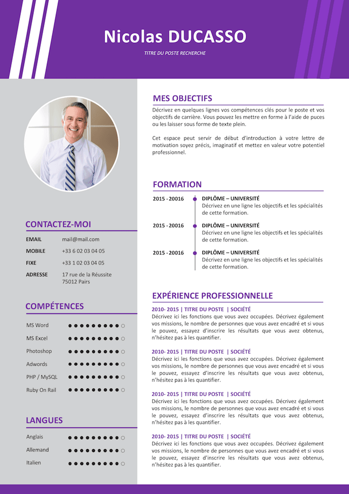 Epingle Par E Wilfried Sur Cv Exemple Cv Cv Commerciale Modele Cv Gratuit