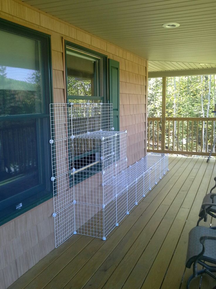 Catio a pinterest success! Working well! Goes around the