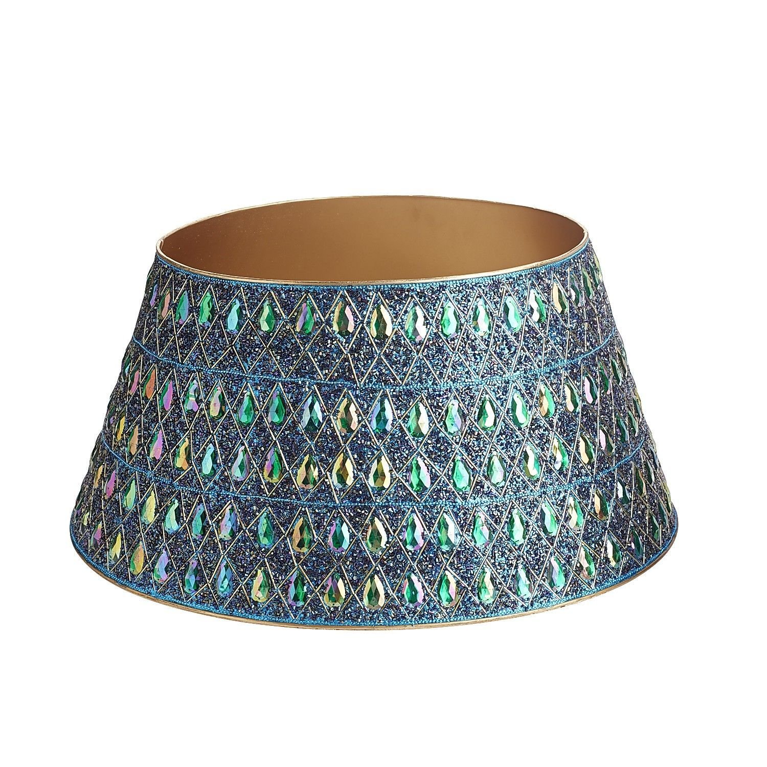 Peacock Beaded Tree Collar | Pier 1 Imports | christmas ...
