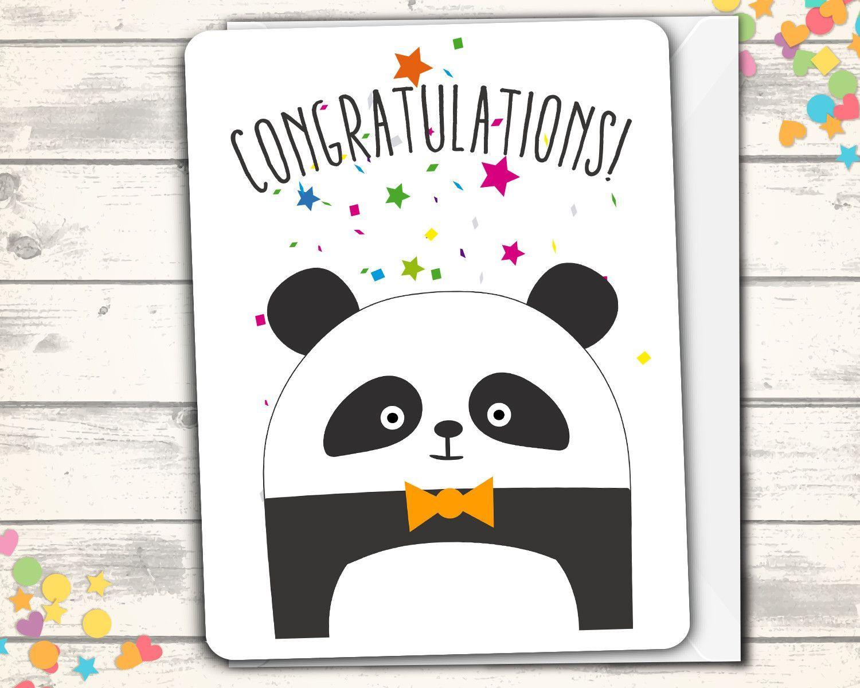 panda congratulations card