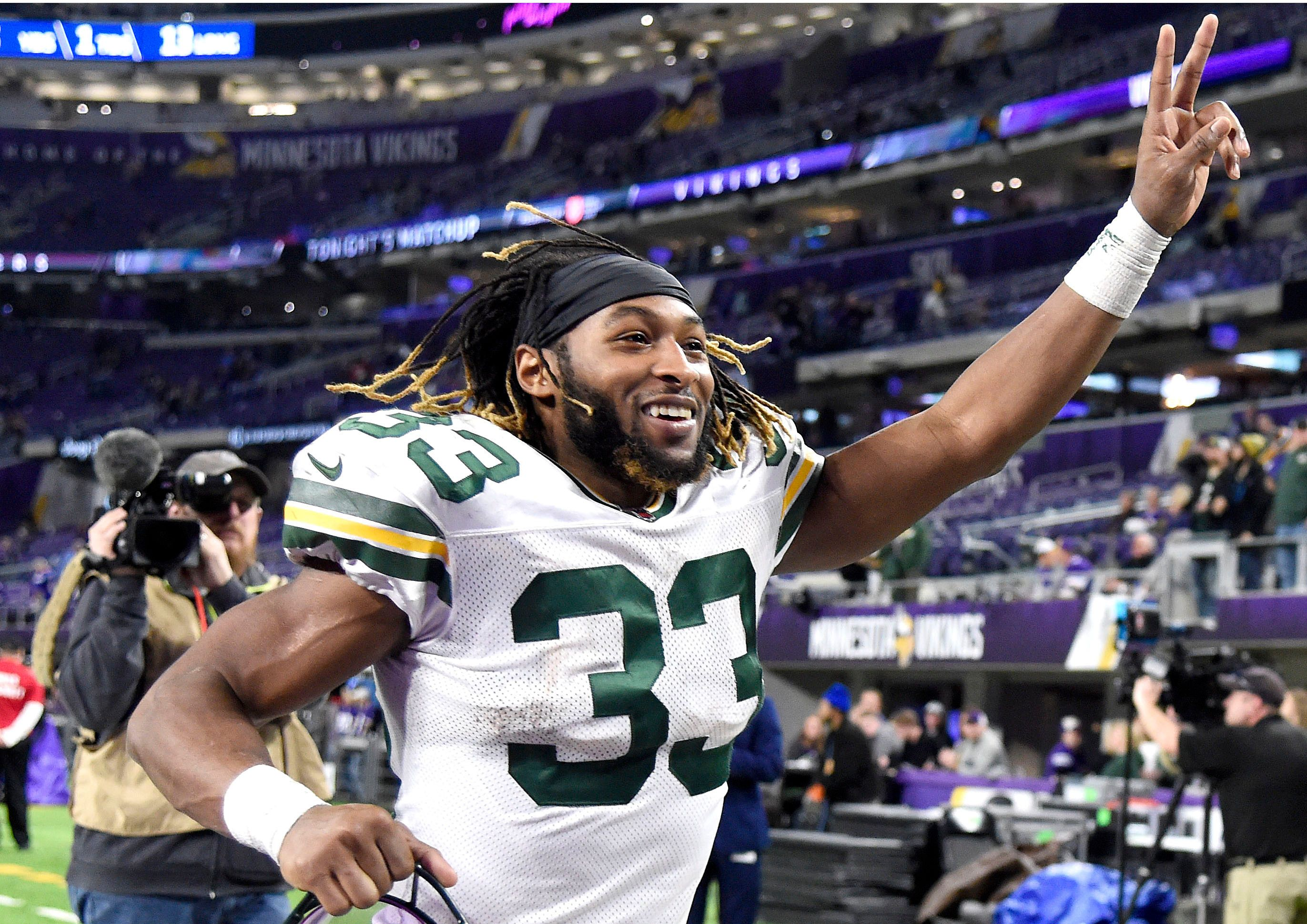 A Conversation With One Of Most Underrated Running Backs In Nfl National Football League News Packers Do Everything Running Bac In 2020 Nfl News Nfl Fantasy Football