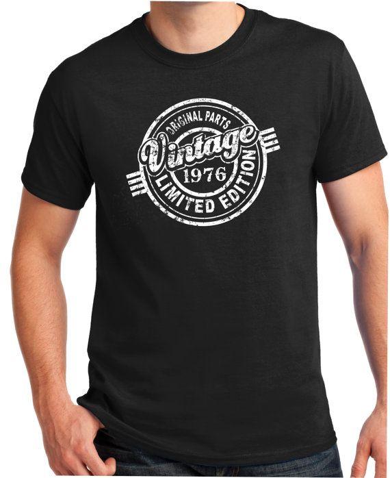 f717fc2f88b5 1976 40th Birthday Gift Car Guy VINTAGE 1976 Shirt by BluYeti   Cool ...