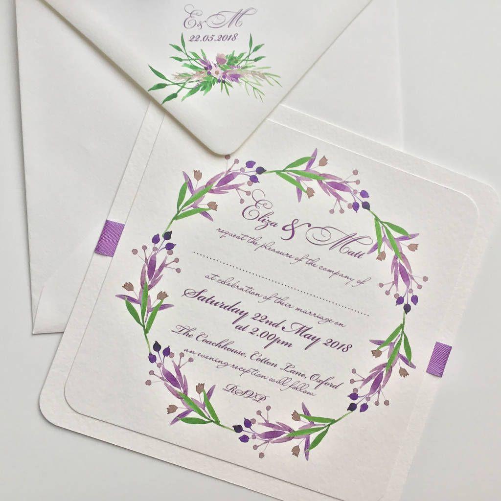 Wedding invitationssimple lavender wedding invitation theme ideas