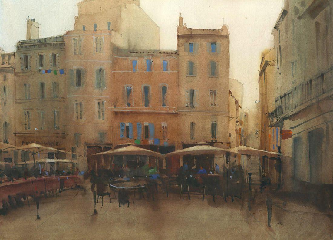 Watercolor paintings. representation