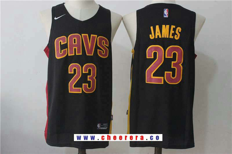 8cb68a740 Men s Cleveland Cavaliers  23 LeBron James 2017 Black Fashion Stitched NBA  Nike Basketball Jersey