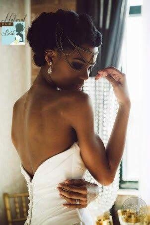 Idées coiffures cheveux crépus pour future mariée