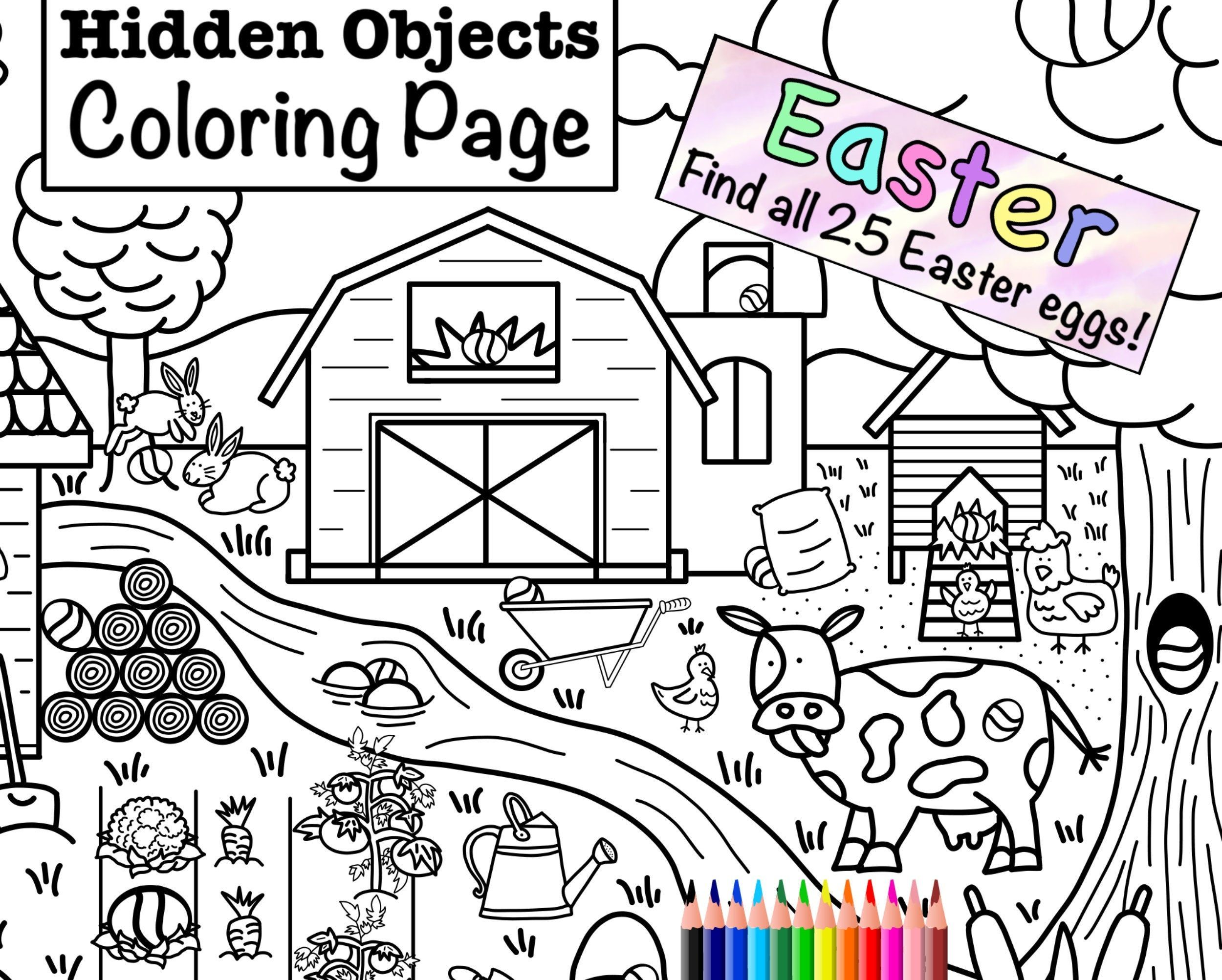 Now On Sale For Only 2 00 Download This Hidden Easter Egg Coloring Page Today Https Coloring Pages Easter Coloring Pages Unicorn Coloring Pages