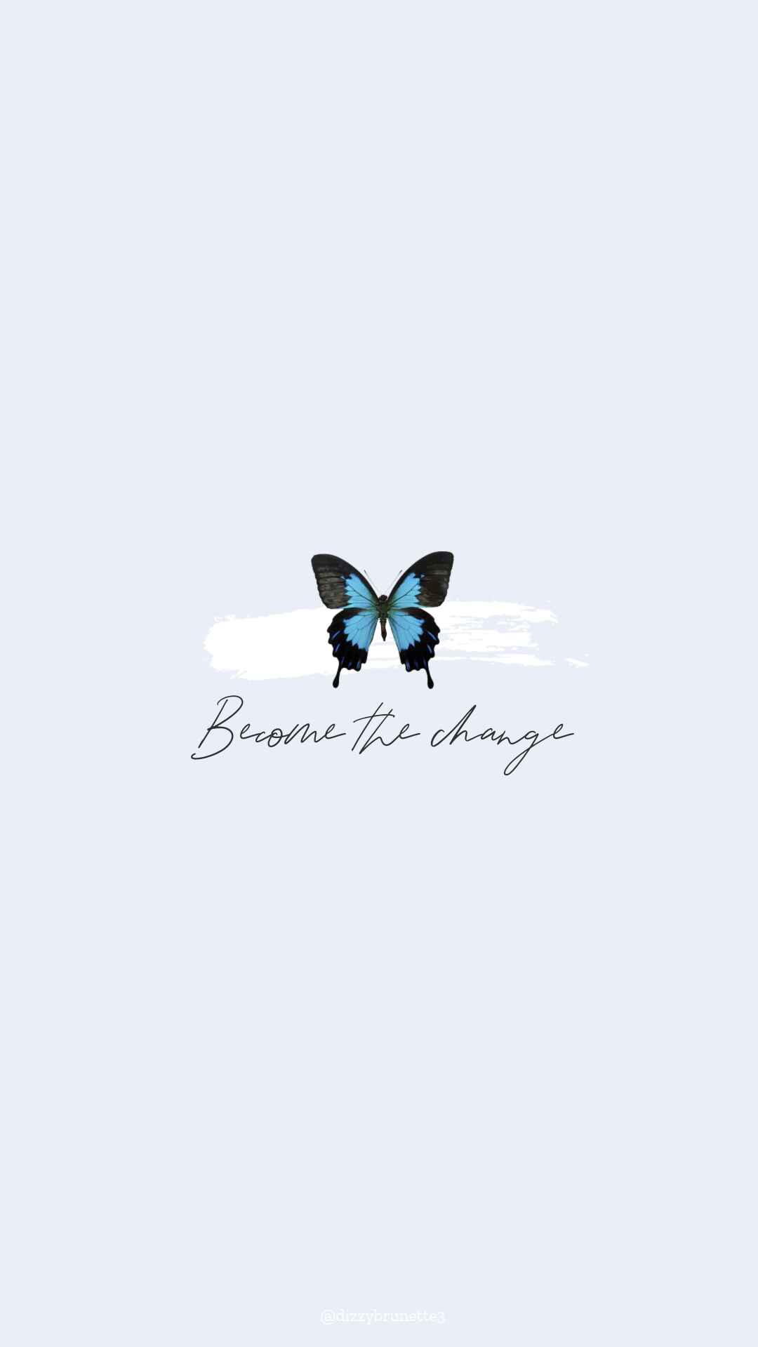 Pastel Blue Blue Butterfly Wallpaper Tumblr