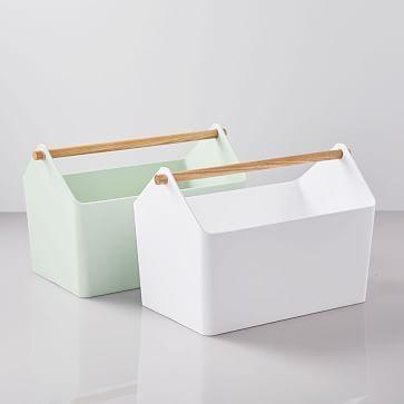 Yamazaki Wood Handle Storage Caddy
