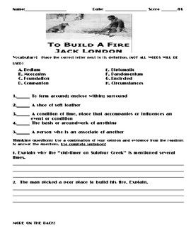 To Build A Fire By Jack London Assignment Assignments Essay Theme Introduction Topic
