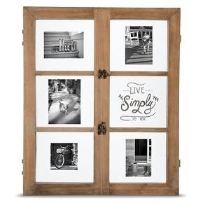 """Live Simply"" Window-Style Wood Picture Frame - Threshold™"