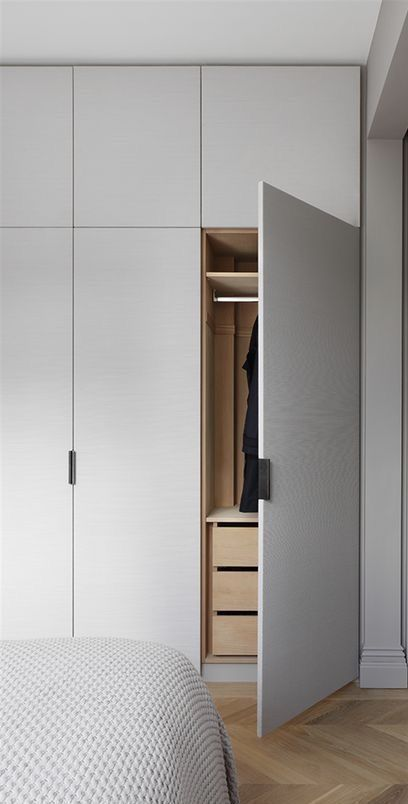#wardrobe doors 20+ Chic Wardrobe Design Ideas For Your Small Bedroom - Dekoration