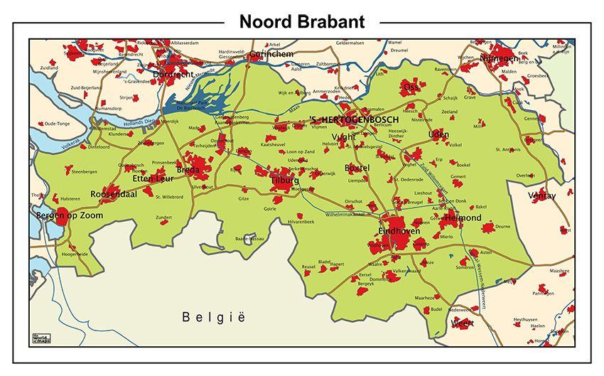 Schoolkaart NoordBrabant Maps Pinterest European history