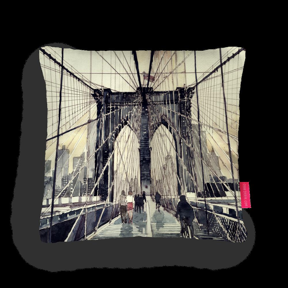 Brooklyn Bridge Cushion designed by Maja Wronska from www.littlehouseofvictoria.com