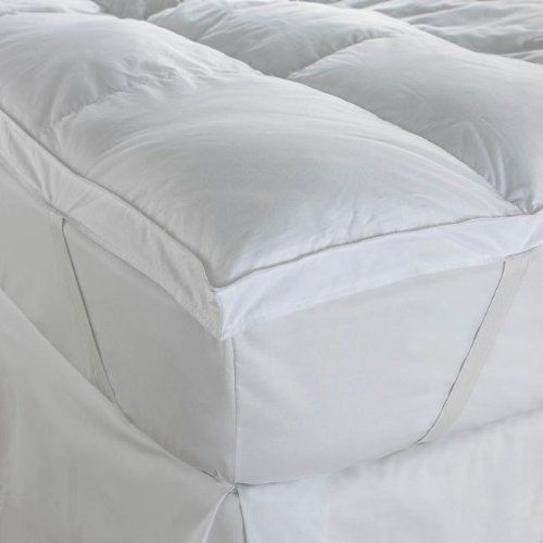 Double Hotel Quality Extra Soft Luxury 100% 200TC Cotton 4in Thick Mattress  Topper By Bedding