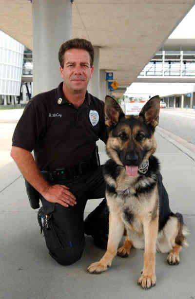 Pensacola Regional Airport very own Rick and Gracey | Canine