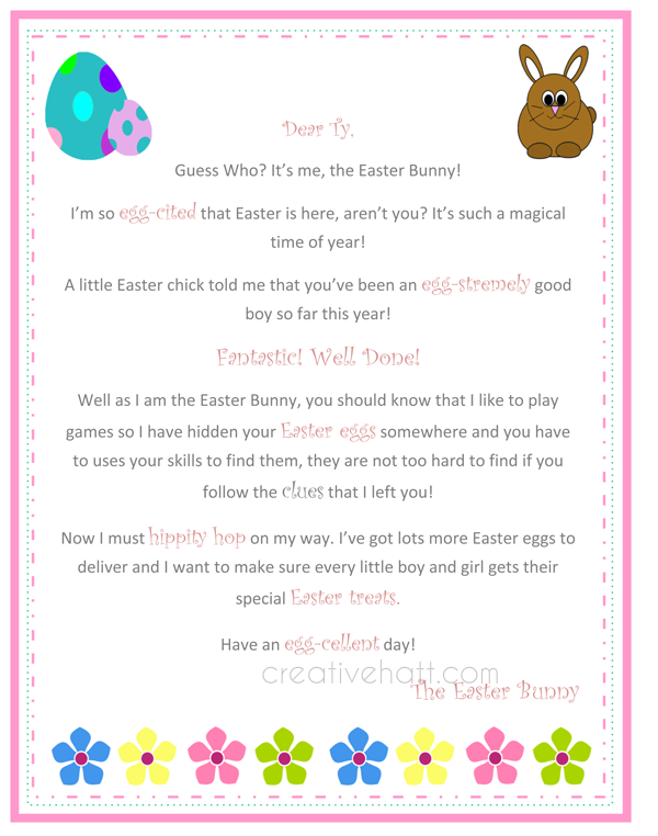 Easter bunny letter template free dolapgnetband easter bunny letter template free letter from the easter bunny free printable everything easter easter bunny letter template free spiritdancerdesigns