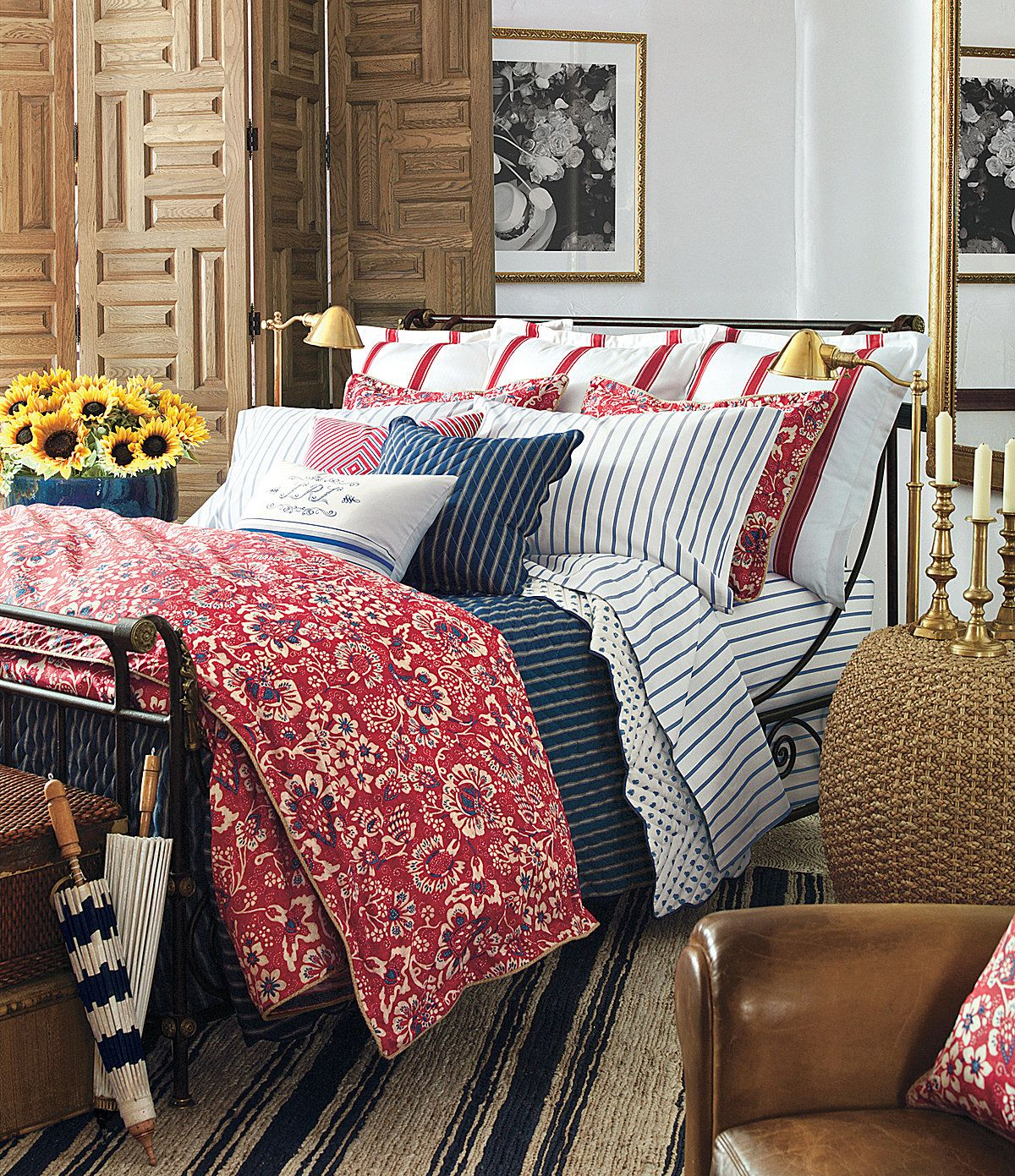 Lauren Ralph Lauren Quot Villa Martine Quot Home Bedroom Bedroom Red Blue Bedroom