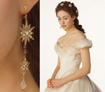 Think Of Me Earrings Gold Phantom Of The Opera By Nerdydesigner