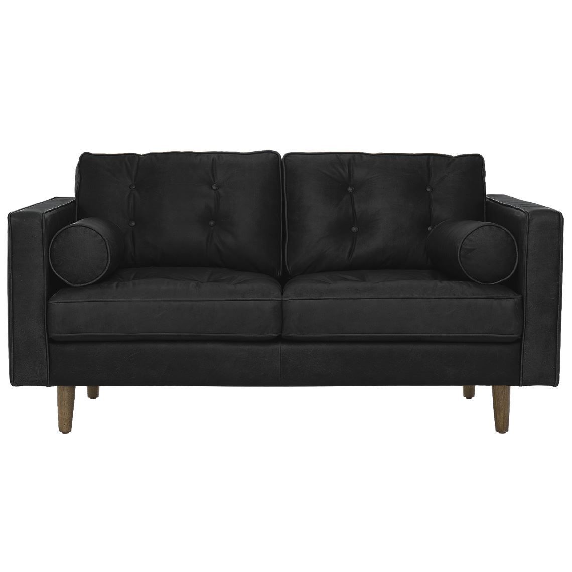 Superb Copenhagen 2 Seat Leather Sofa Black In 2019 Products Theyellowbook Wood Chair Design Ideas Theyellowbookinfo