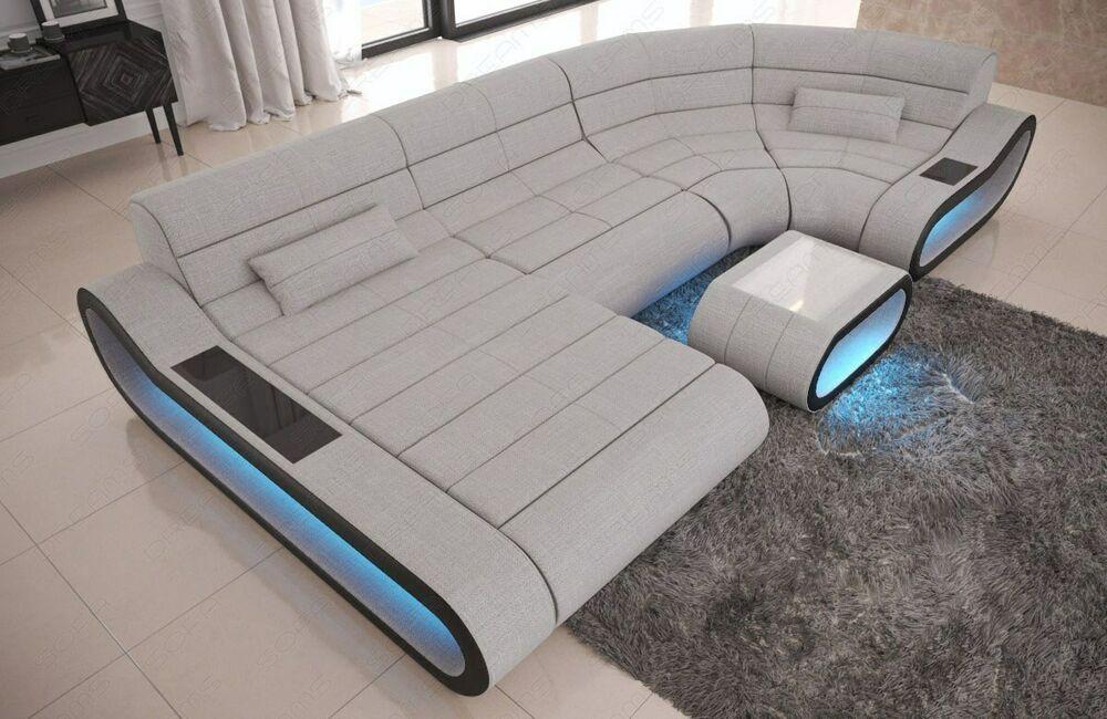 Wohnlandschaft Eck Sofa Luxus Eckcouch Concept U Form Designersofa Led Ecksofa In 2020 Living Room Sofa Set Futuristic Furniture Couch