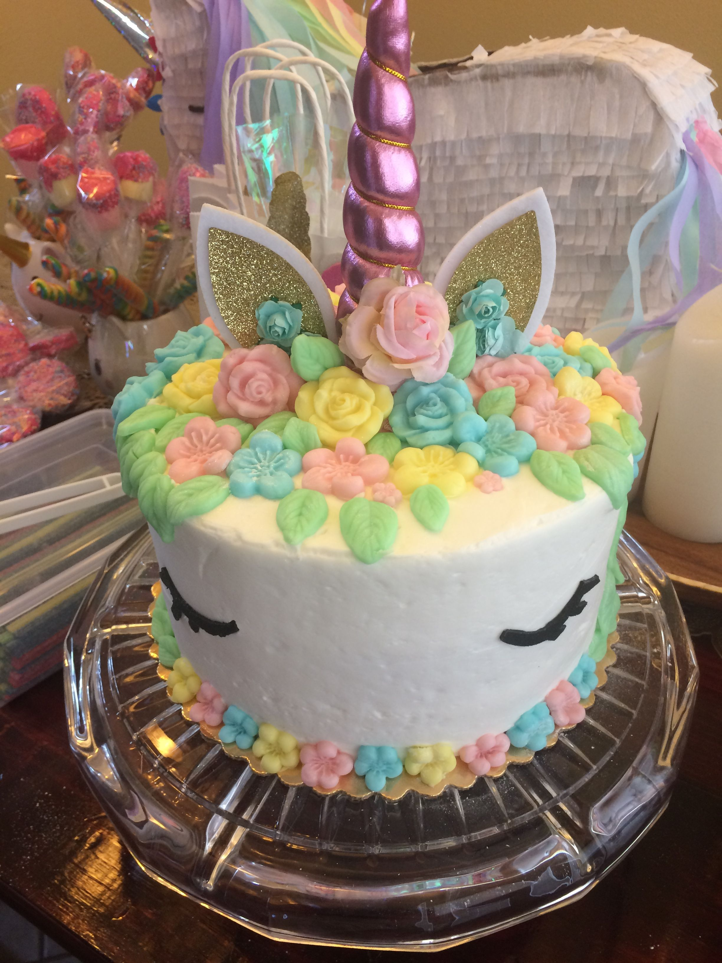 Excellent Easy Unicorn Cake Purchased Cake From Vons And Asked Them To Just Funny Birthday Cards Online Fluifree Goldxyz