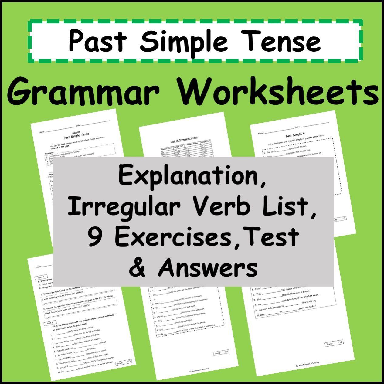 Past Simple Tense Grammar Worksheets For Grade 1 Up Esl Efl Grammar Worksheets Tenses Grammar 1st Grade Worksheets [ 1265 x 1265 Pixel ]