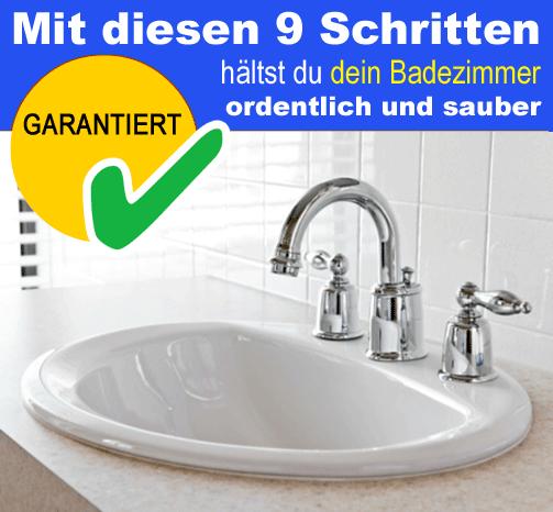 Mit diesen 9 Schritten hältst du dein Bad ordentlich und sauber » Checkliste download