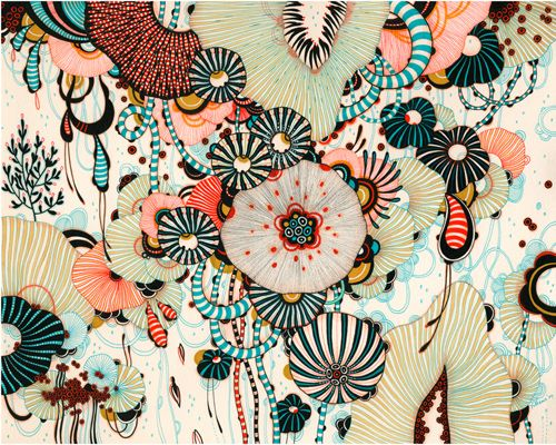 Myriad by Yellena James: Love the patterns, colors and shapes!