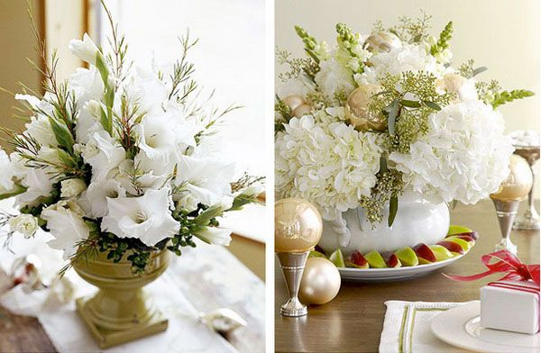 Christmas decoration with flowers Ideas for christmas and new