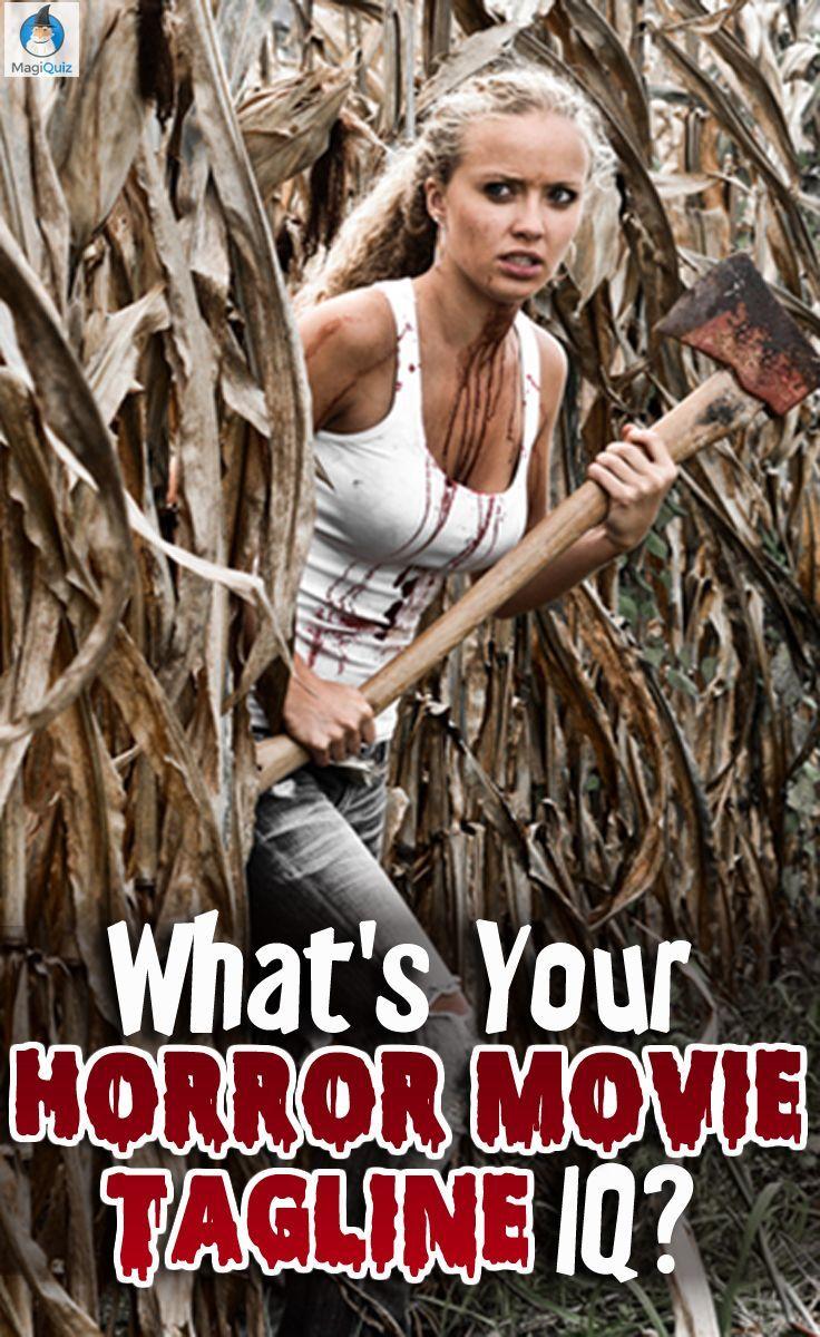 what's your horror movie tagline iq? | crafts | pinterest | thriller