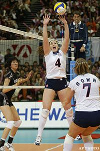 Lindsey Berg Ready To Lead U S Volleyball To First Gold Medal Female Volleyball Players Volleyball Outfits Volleyball Training
