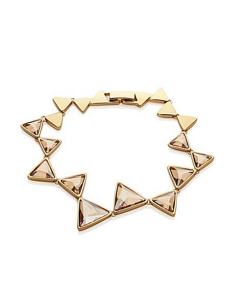 18ct Gold Plated Triangle Bracelet
