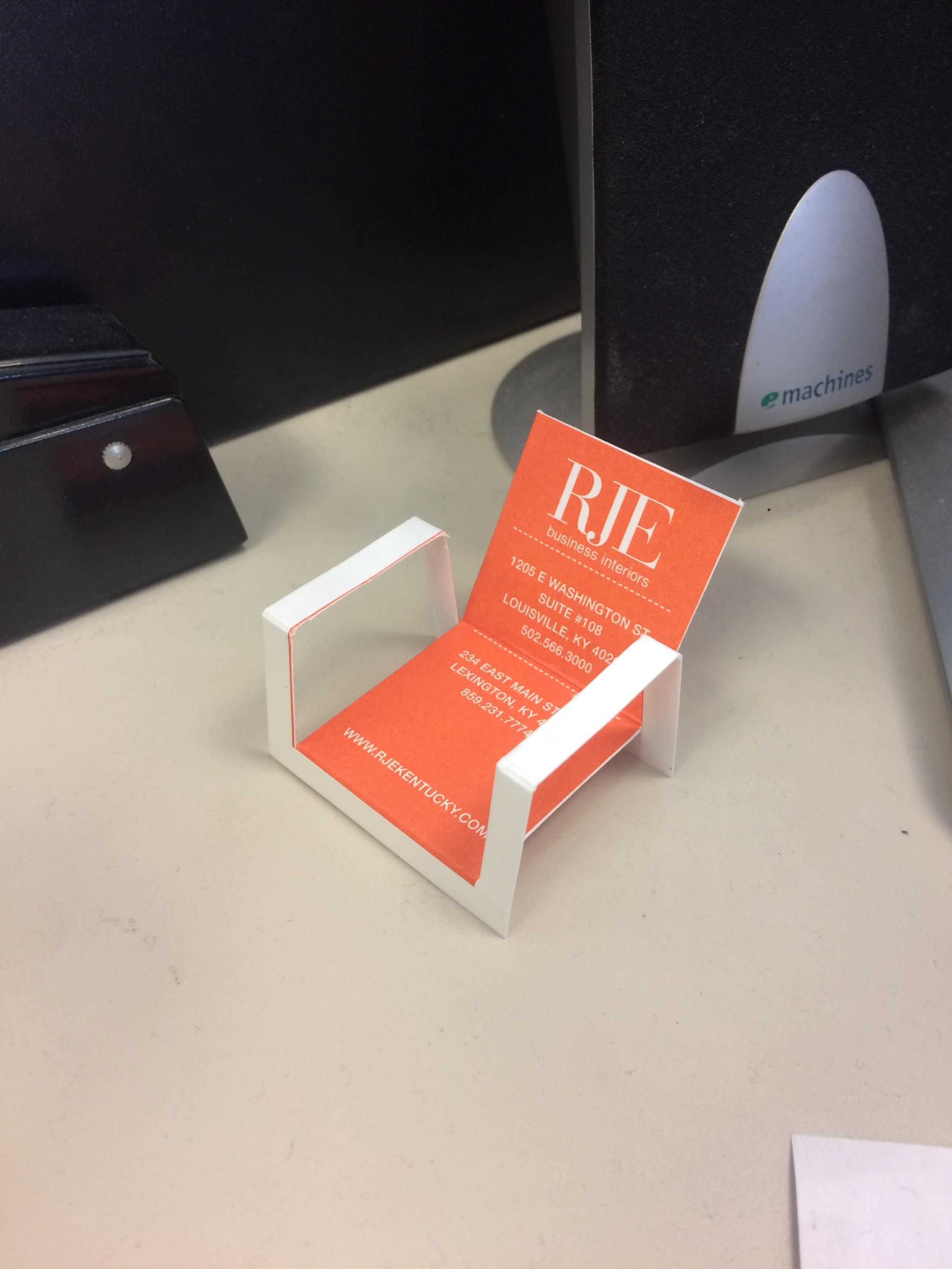 This business card that can be folded into a chair.   Pets Funny ...