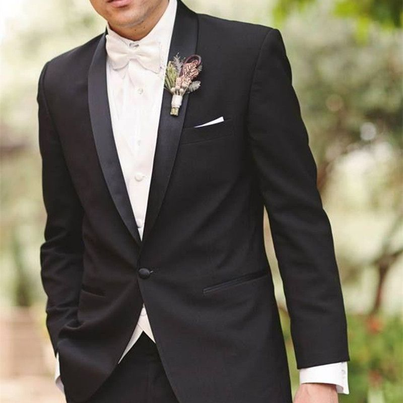 costume homme mariage 2017 Groom Wedding Suit Men One Button Shawl ...