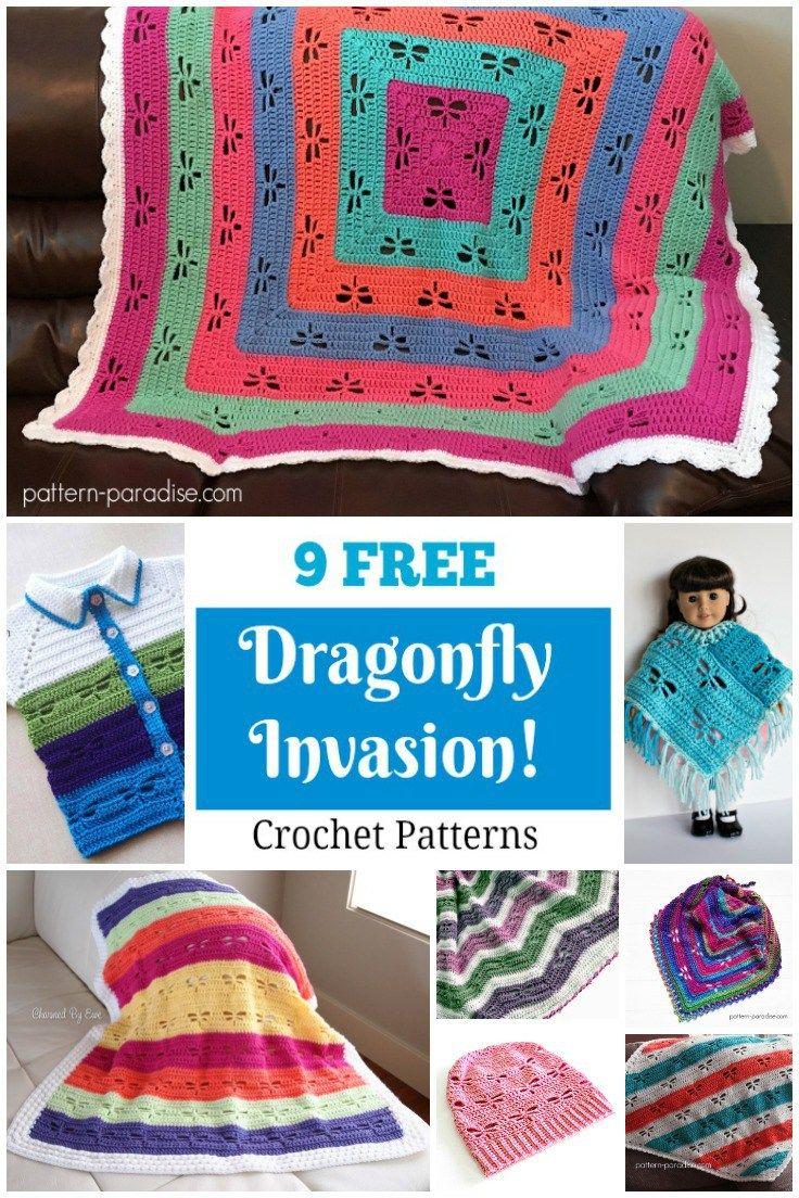 9 Free Dragonfly Crochet Patterns on Pattern-Paradise.com | Haken ...