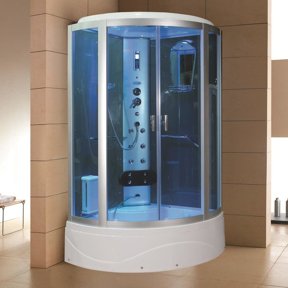 42 X 86 2 Neo Angle Sliding Steam Shower With Base Included