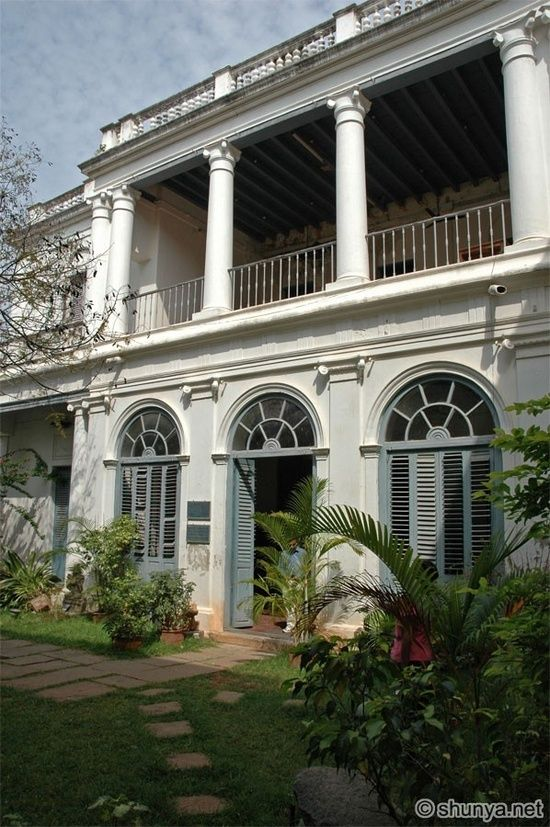 french colonial architecture pondicherry Google Search BRITISH