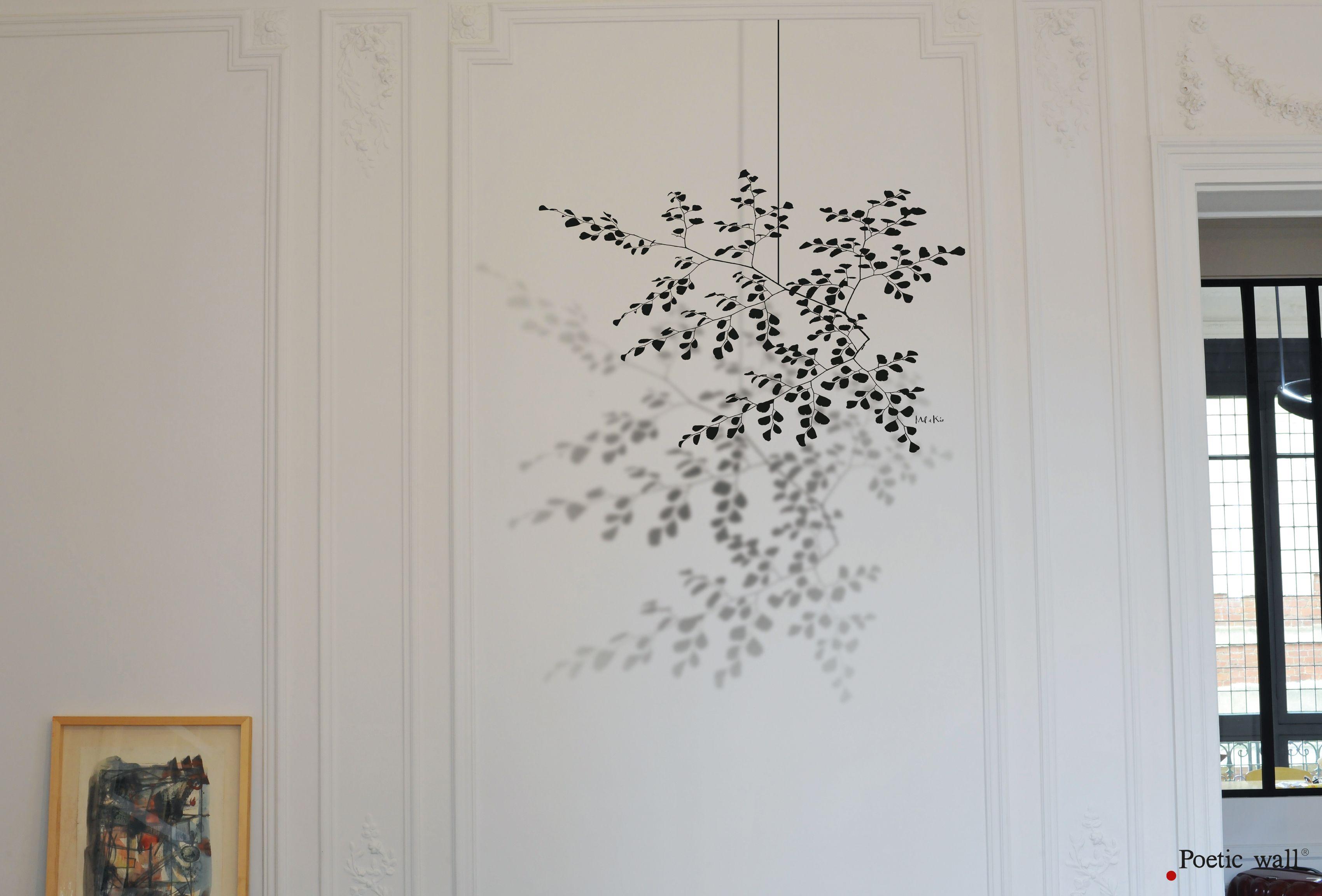 Poetic Wall Mel Et Kio poetic wall – murmures de l'ombre – stickers ombre xxl « le
