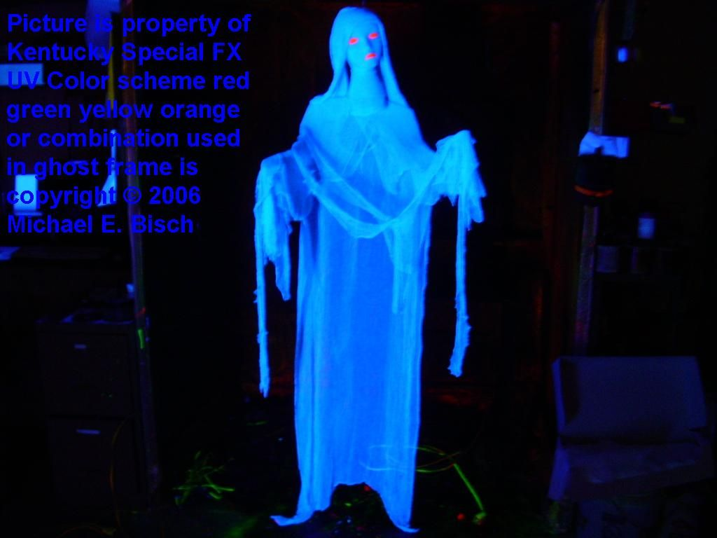 halloween floating ghost decoration prop lady black light reactive