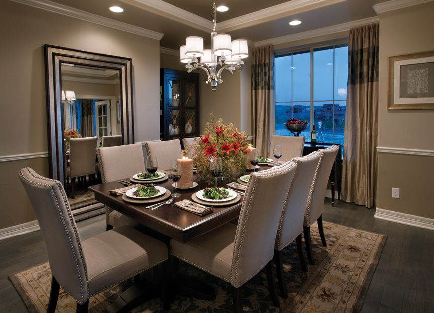 10 Traditional Dining Room Decoration Ideas     A gorgeous dining room to spend time with family   friends   Toll Brothers  as Back Country  CO   Orion home design
