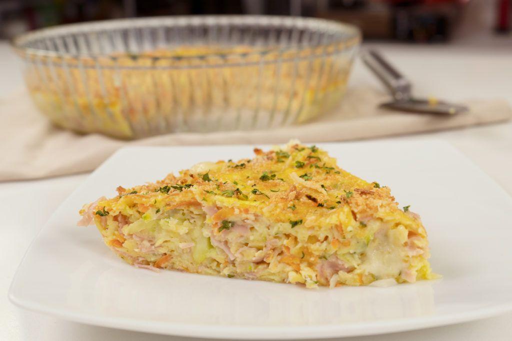 Omelete De Forno Com Queijo E Presunto Em 2020 Omelete De Forno