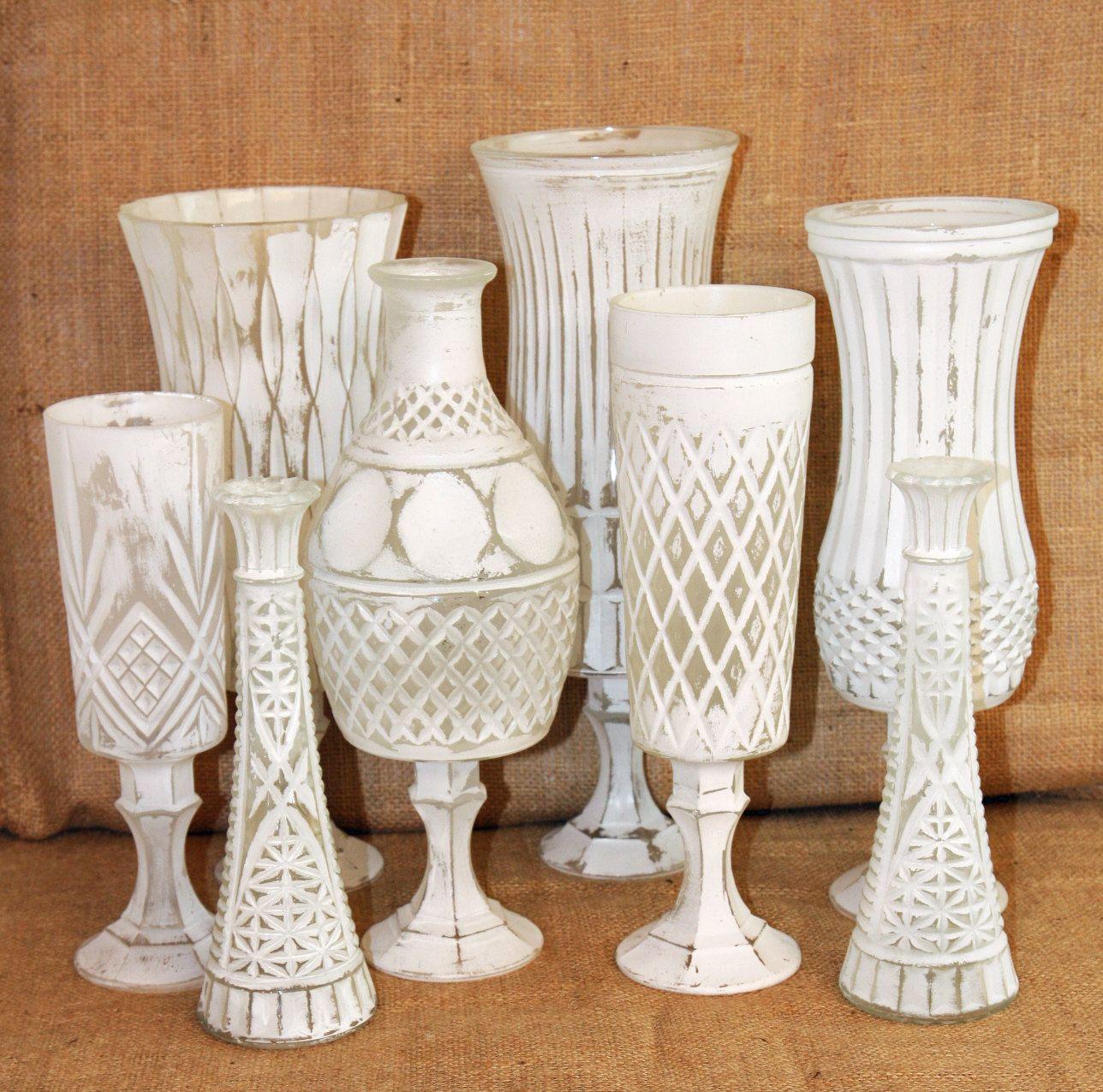 Shabby chic vintage white pedestal vases crafts pinterest shabby chic vintage white pedestal vases floridaeventfo Choice Image