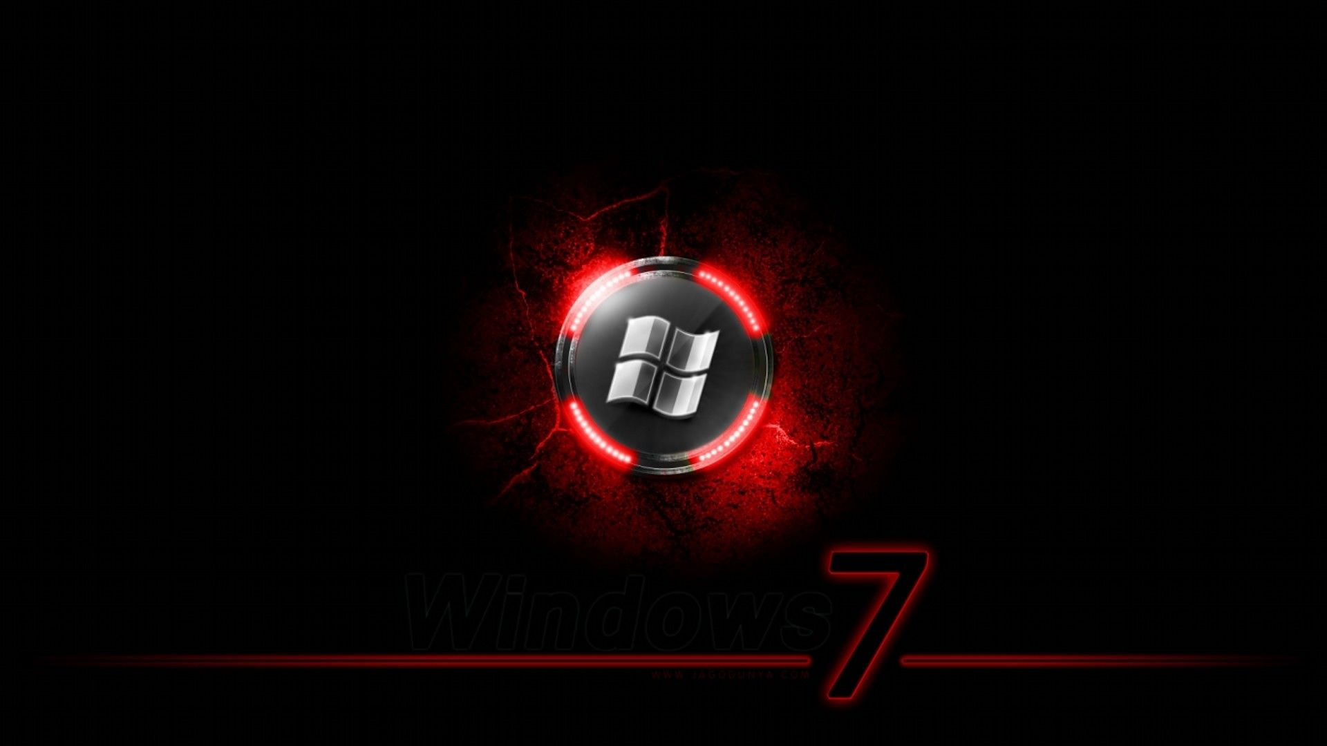 Windows 7 Black N Red Wallpaper Background Hd Wallpaper