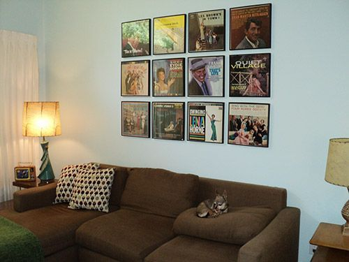 Displaying Old Album Covers As Art Ideas From 8 Reader Homes Music Room Decor Home Decor Home Studio Music