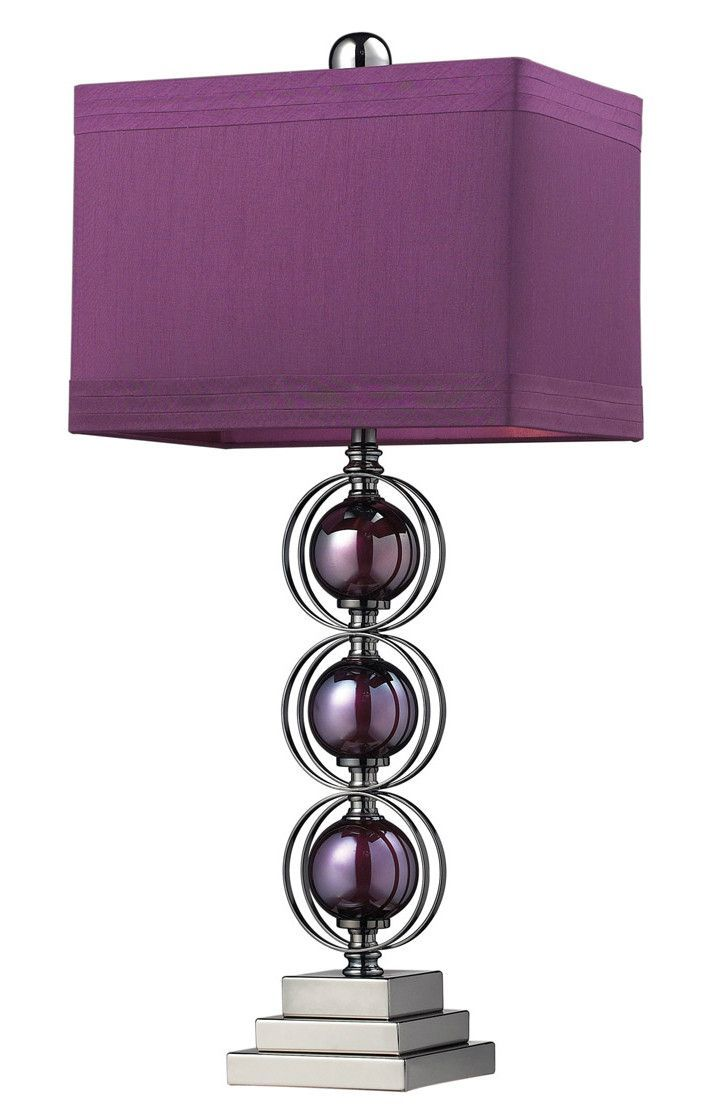 Purple Table Lamp Entrancing Dimond D2232 Alva 1Light Table Lamp  Lights Purple Lamp And Bulbs Design Ideas