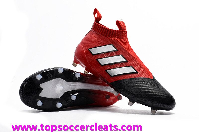 Adidas ACE 17+ PureControl FG Red White Core Black Customize soccer shoes