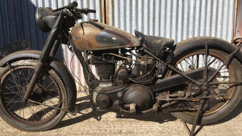 1948 Bsa 500cc Ohv M33 Barn Find Original Bike Project Restoration Oily Rag Br Barn Finds Bike Motorcycles For Sale