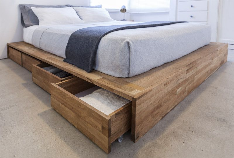 Platform Bed Frames With Drawers get some extra mileage out of your sleeping space with these 12