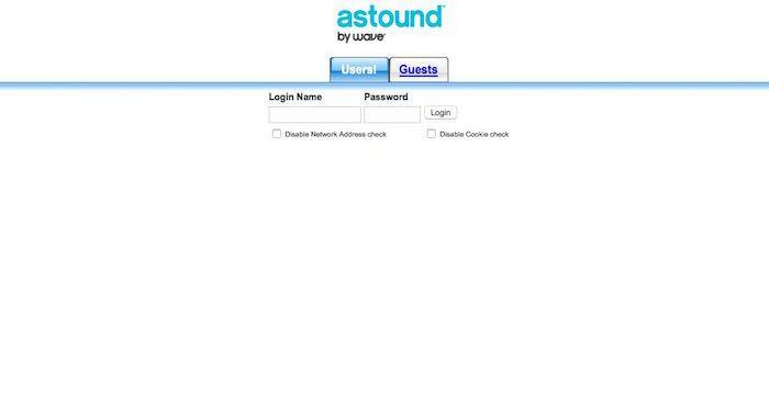astound login page